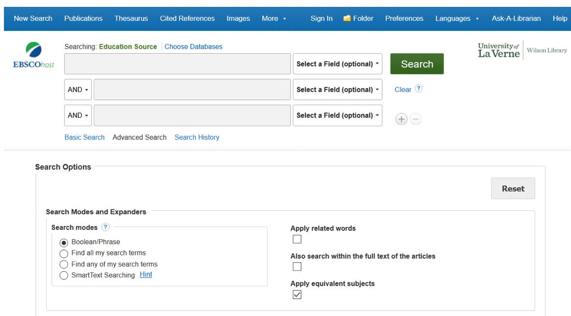Education Source Database
